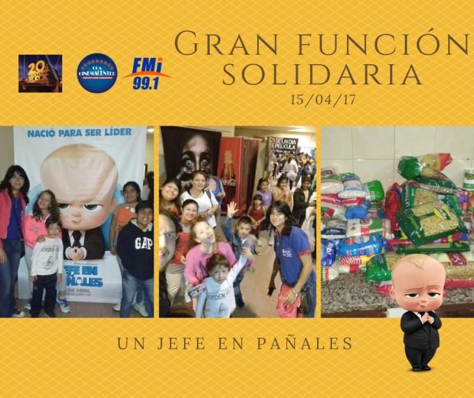 Una función Solidaria que permitió compartir momentos y donaciones