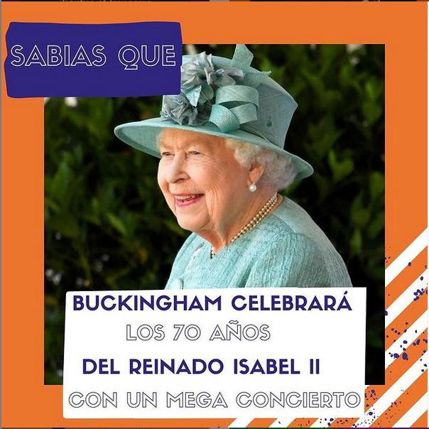 La Reina Isabel II celebra 70 años en el trono británico.