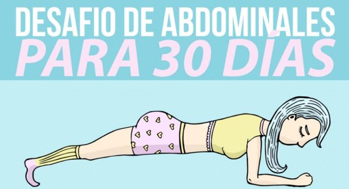 Súmate al desafío de 30 días para tener unos abdominales tonificados