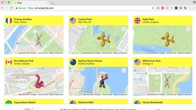 Snapchat estrena plataforma para fotografiar esculturas