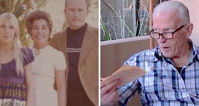 38 años después de la muerte de su esposa, los obreros le entregan una nota que ella dejó en el muro