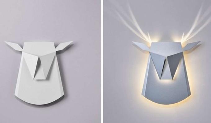 Estas increíbles lámparas inteligentes de pared se transforman en animales cuando se encienden