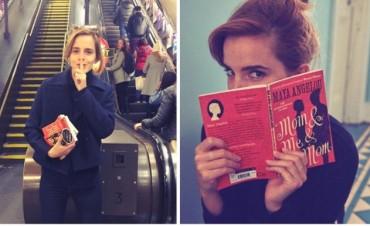 Emma Watson escribió notas ocultas en libros que dejó en el metro de Londres