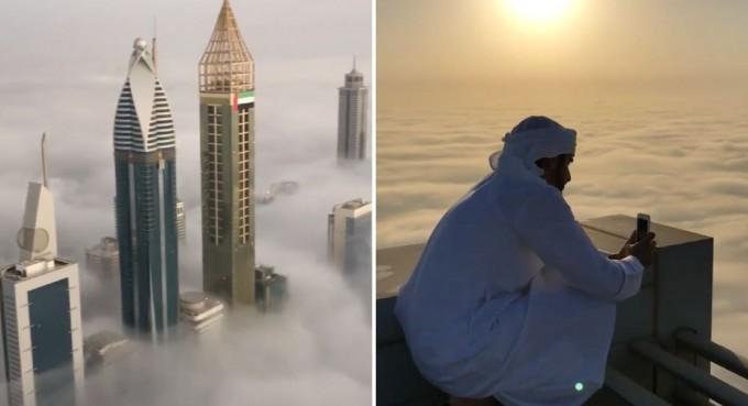 El príncipe de Dubai capturó la magia de su ciudad desde las nubes y es impresionante